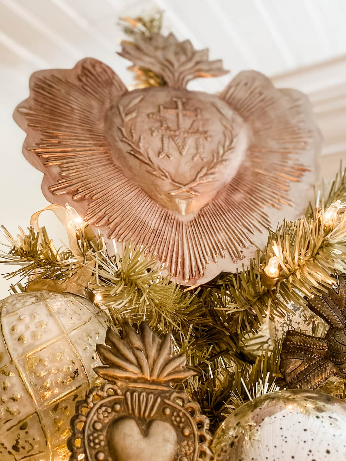 vintage French Christmas ex voto hearts