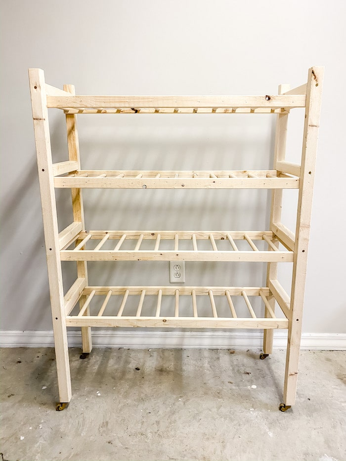 how to make a bakers rack