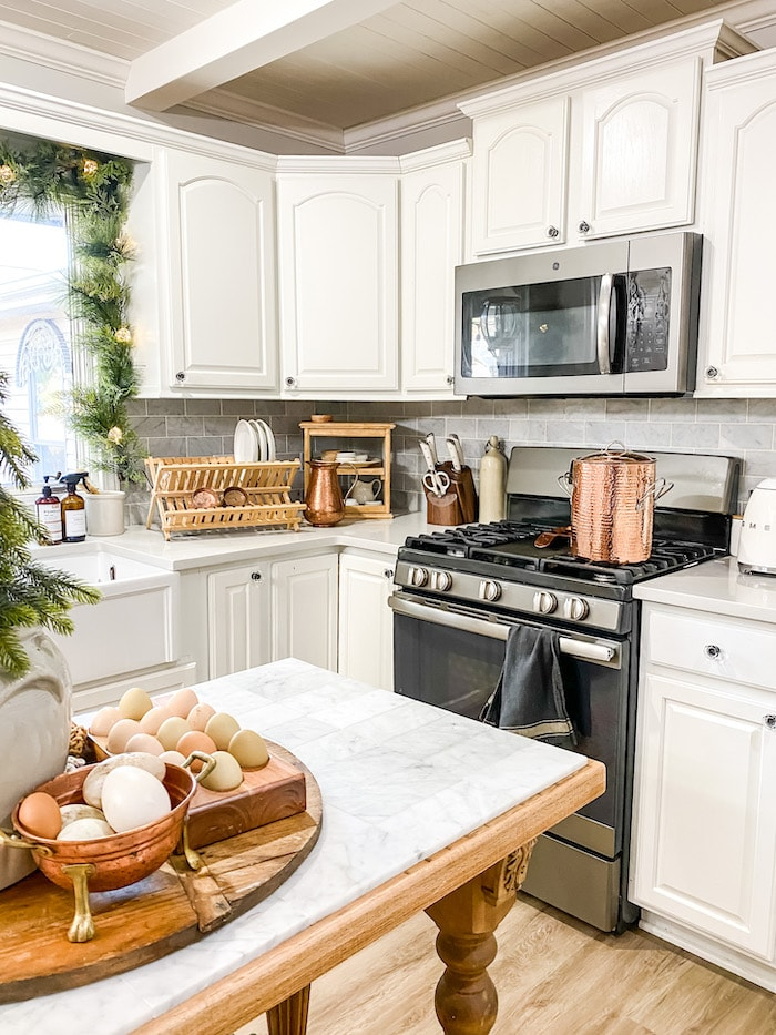 French style home tour kitchen