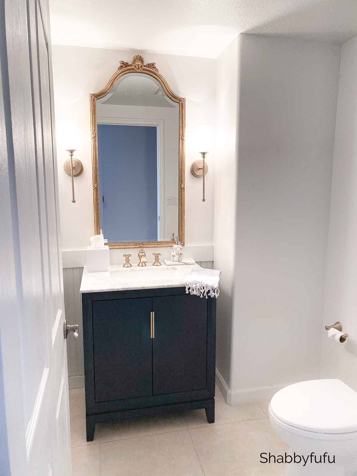 powder room remodel renovation beach home