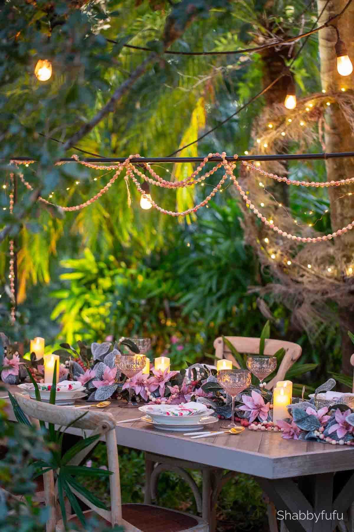 Miami Christmas home tour palm trees garden