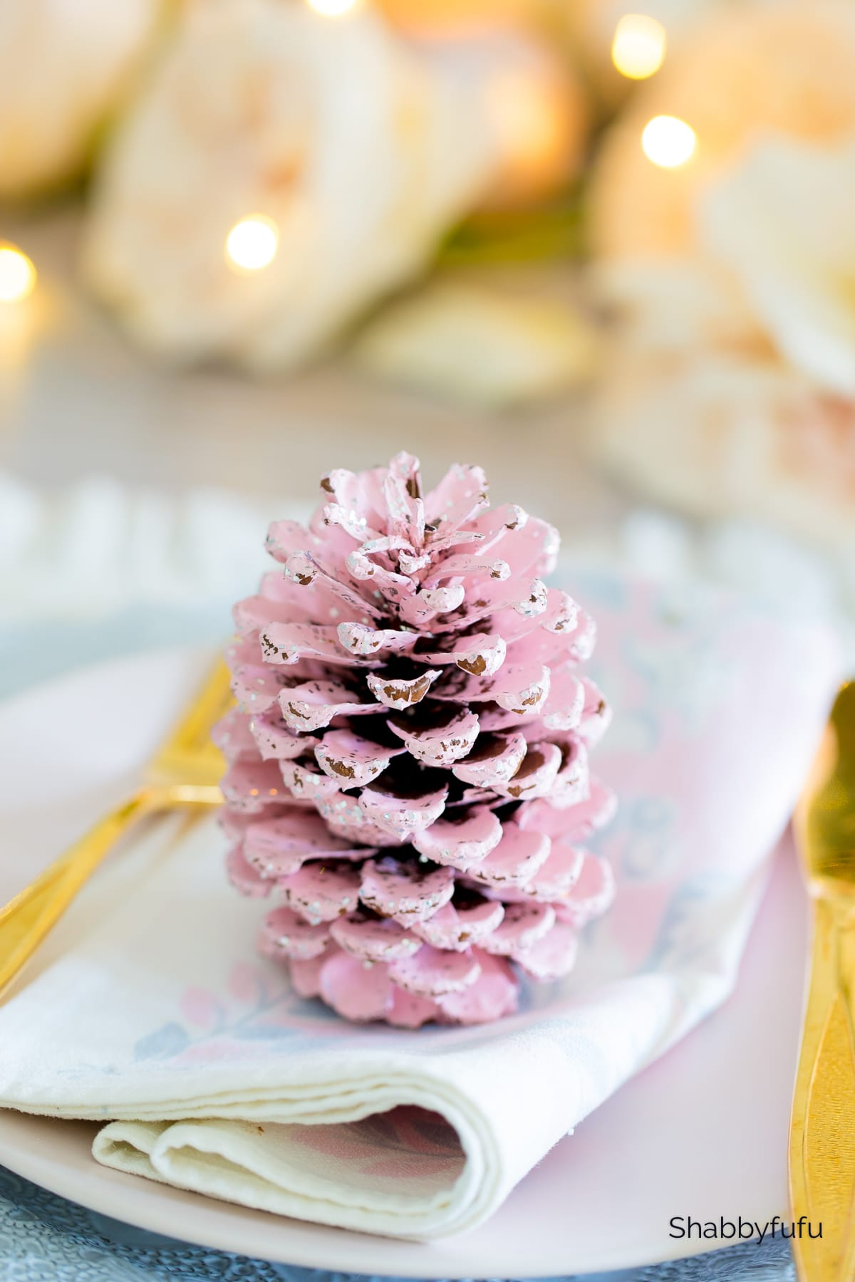 pink pine cone hosting a small get together