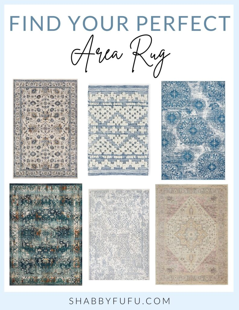 collage of chic area rugs