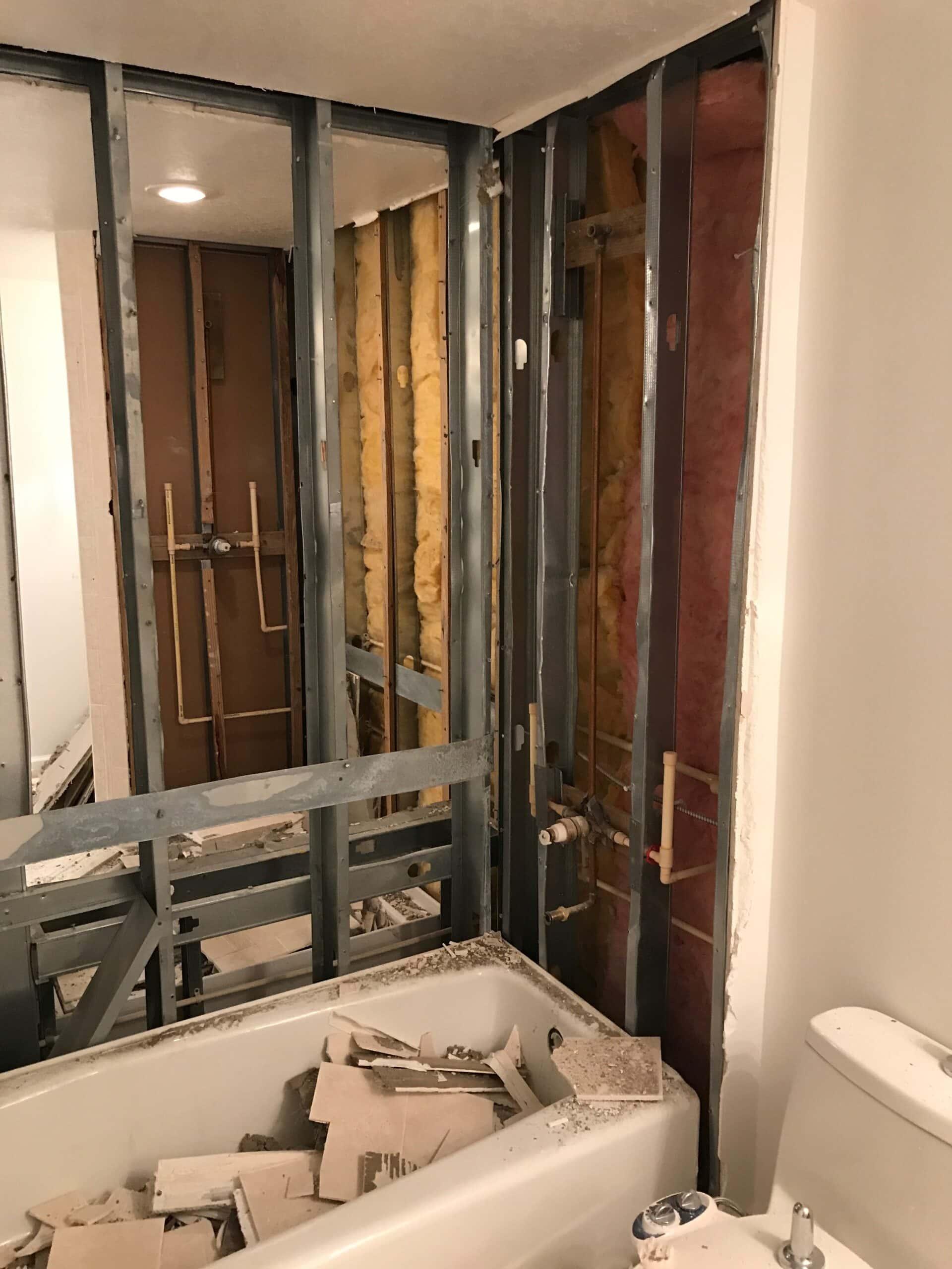 bathroom renovation back to back bathrooms