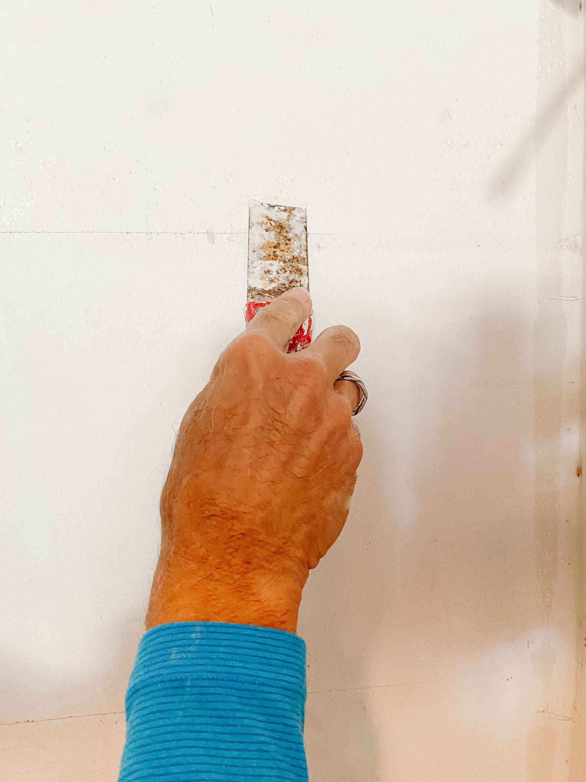 patching and painting walls