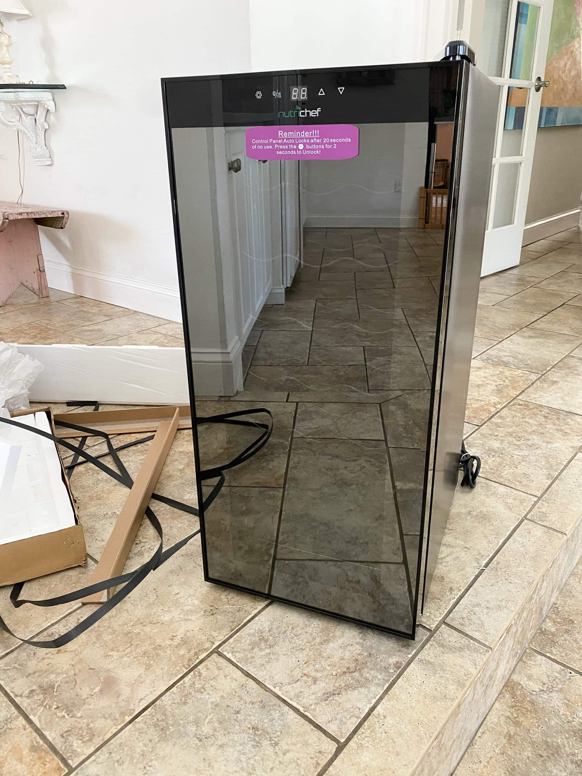 wine fridge for a small pantry diy makeover