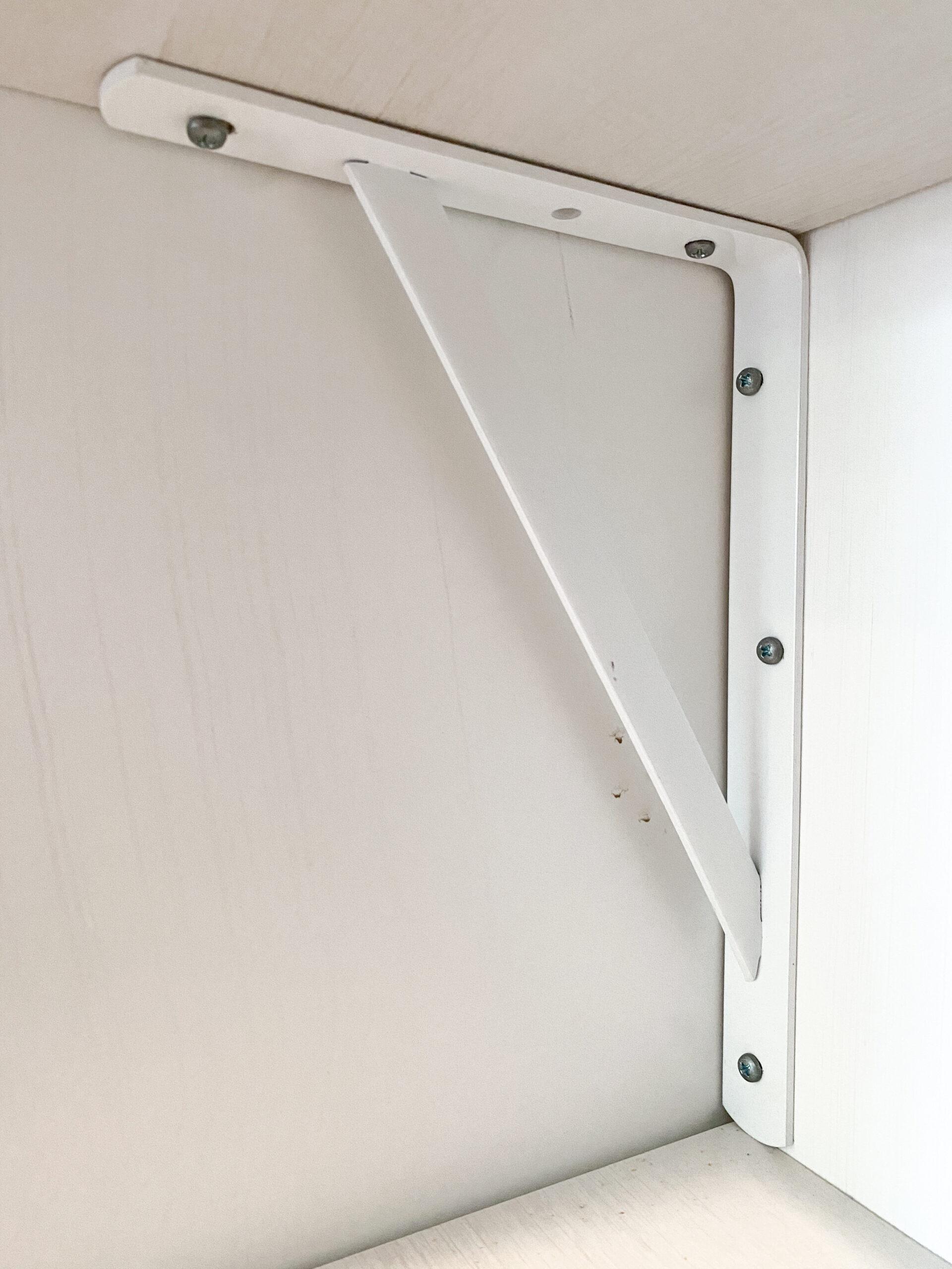 National Hardware white shelf bracket