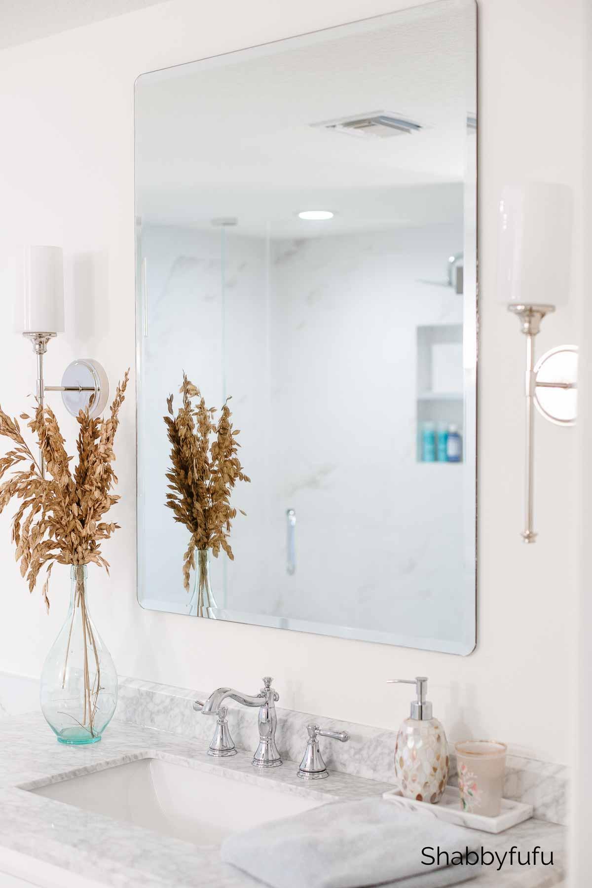 spa inspired bathroom marble rectangular sink
