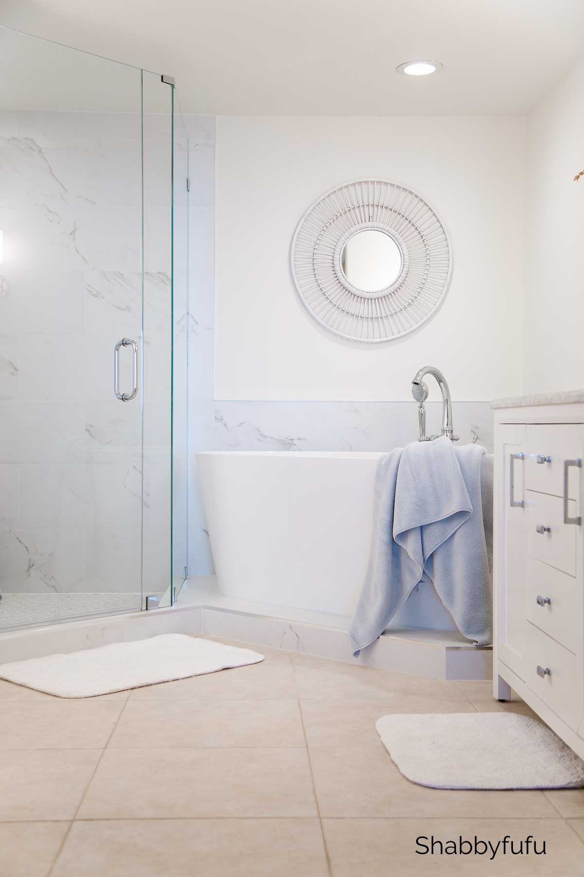 master bathroom beach house renovation