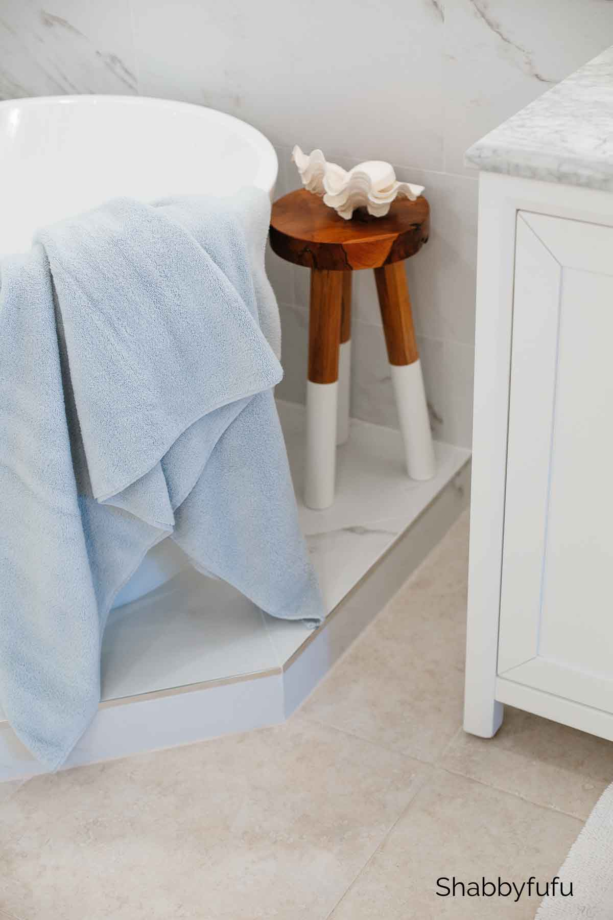 serena and lily white dipped stool