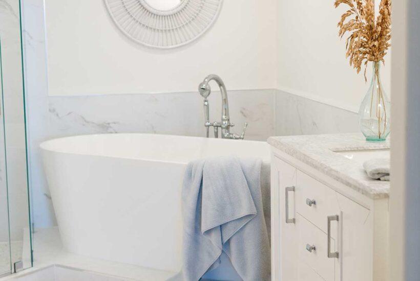 spa inspired bathroom renovation