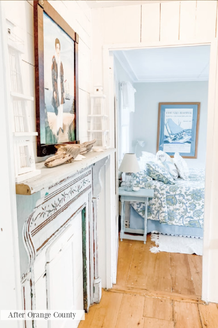 blue white bedspread bedroom afterorangecounty 2