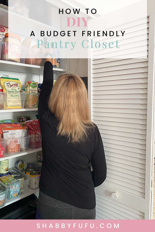 how to diy a budget friendly pantry closet