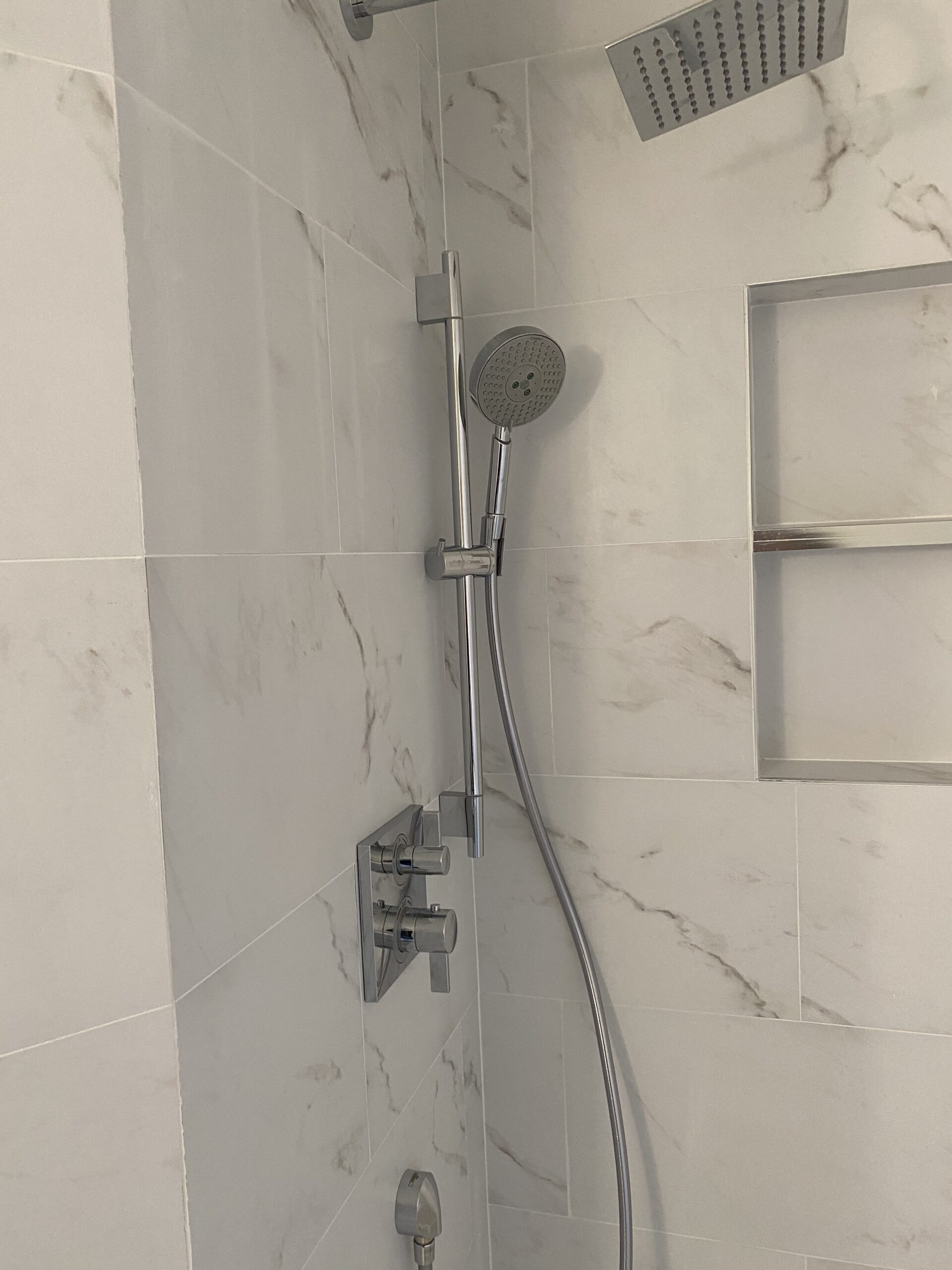 large 2 shelf shower niche