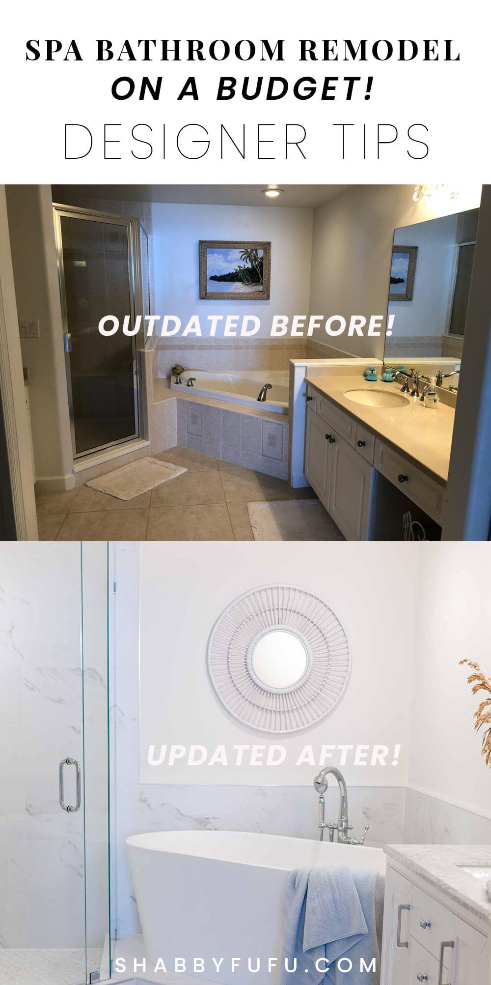 spa bathroom remodel on a budget