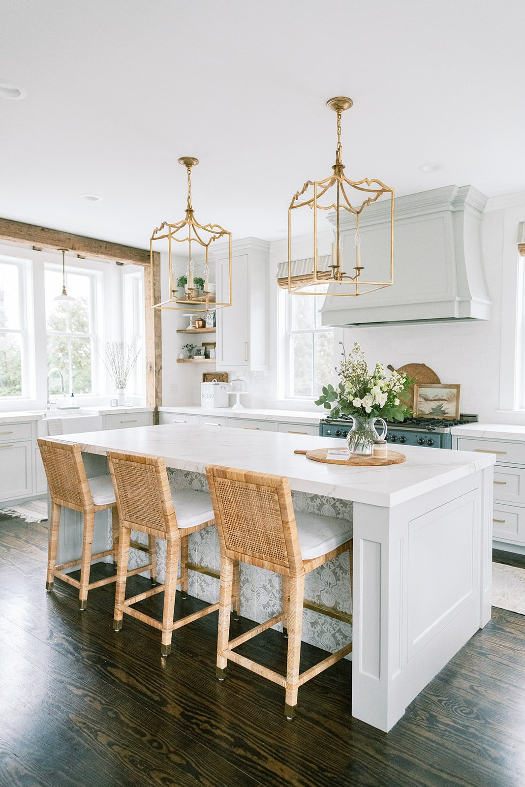 New England home tour kitchen
