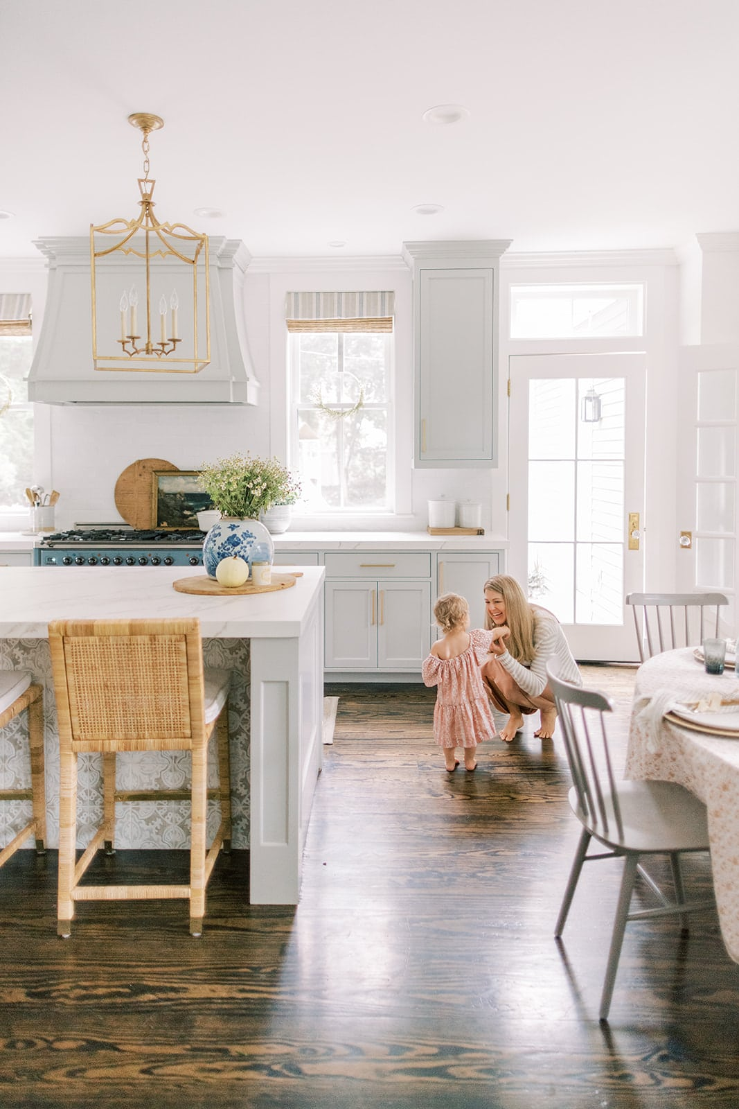 Finding Lovely New England home tour kitchen