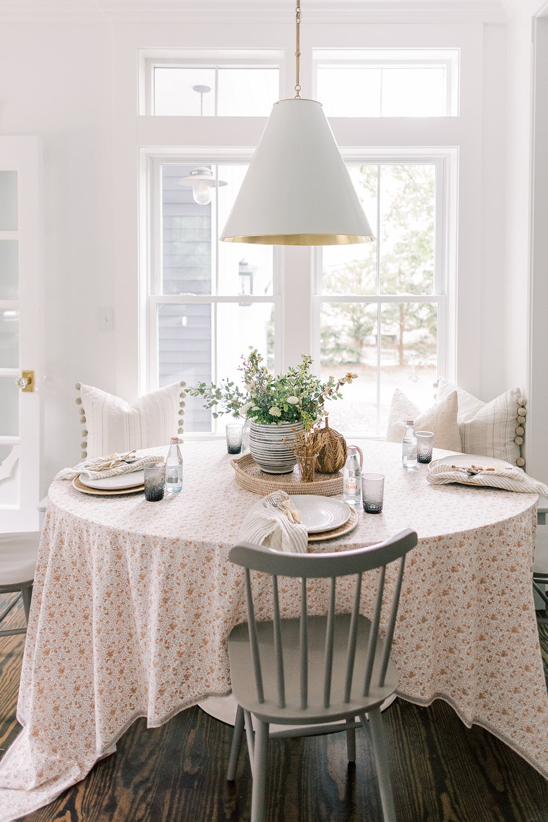 New England home tour kitchen cottage style breakfast nook