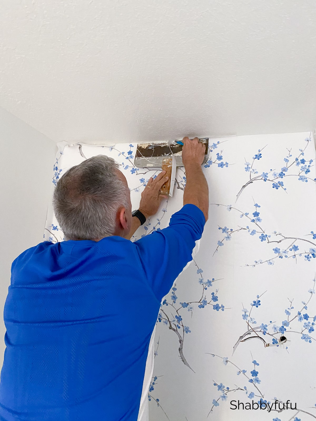 hang peel and stick wallpaper