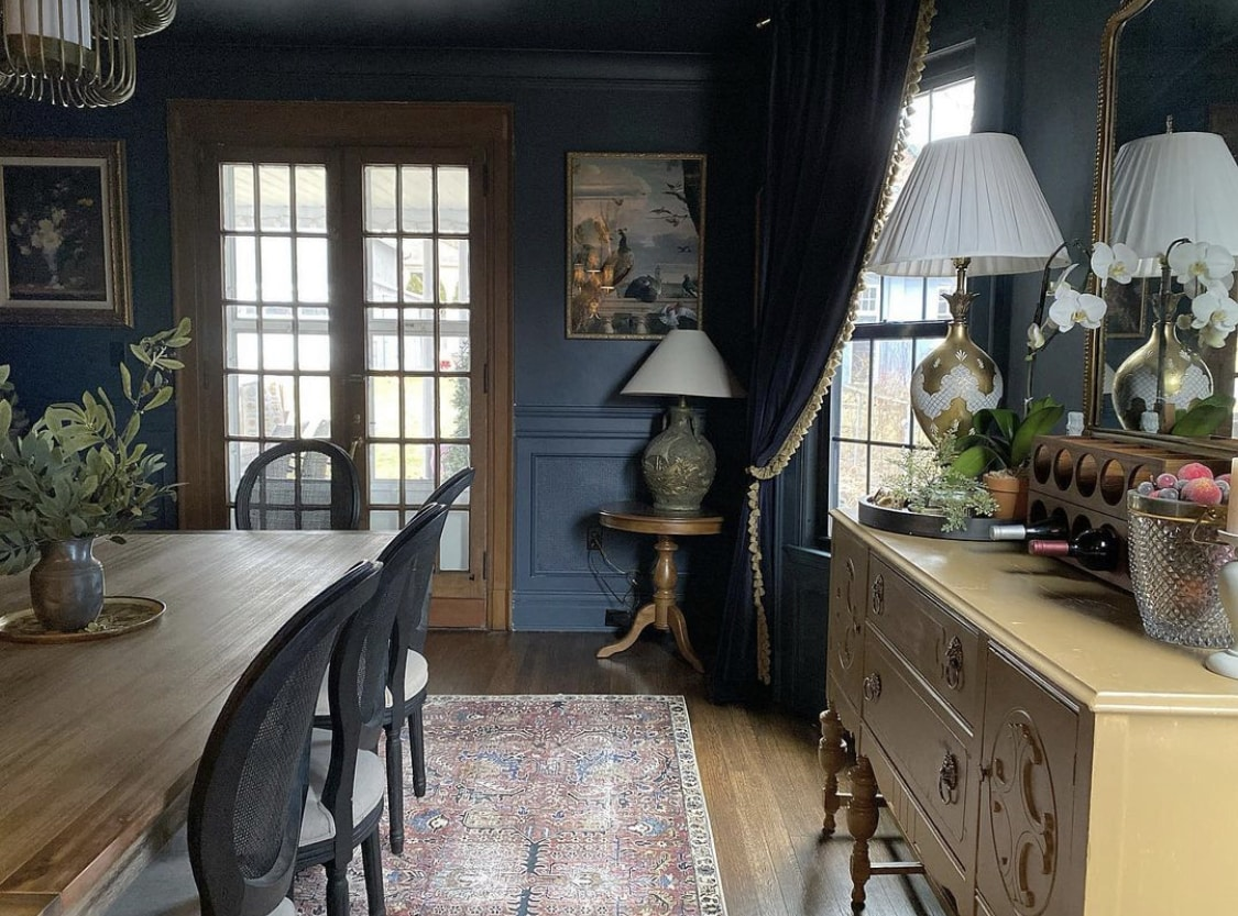 grand millennial style dining room