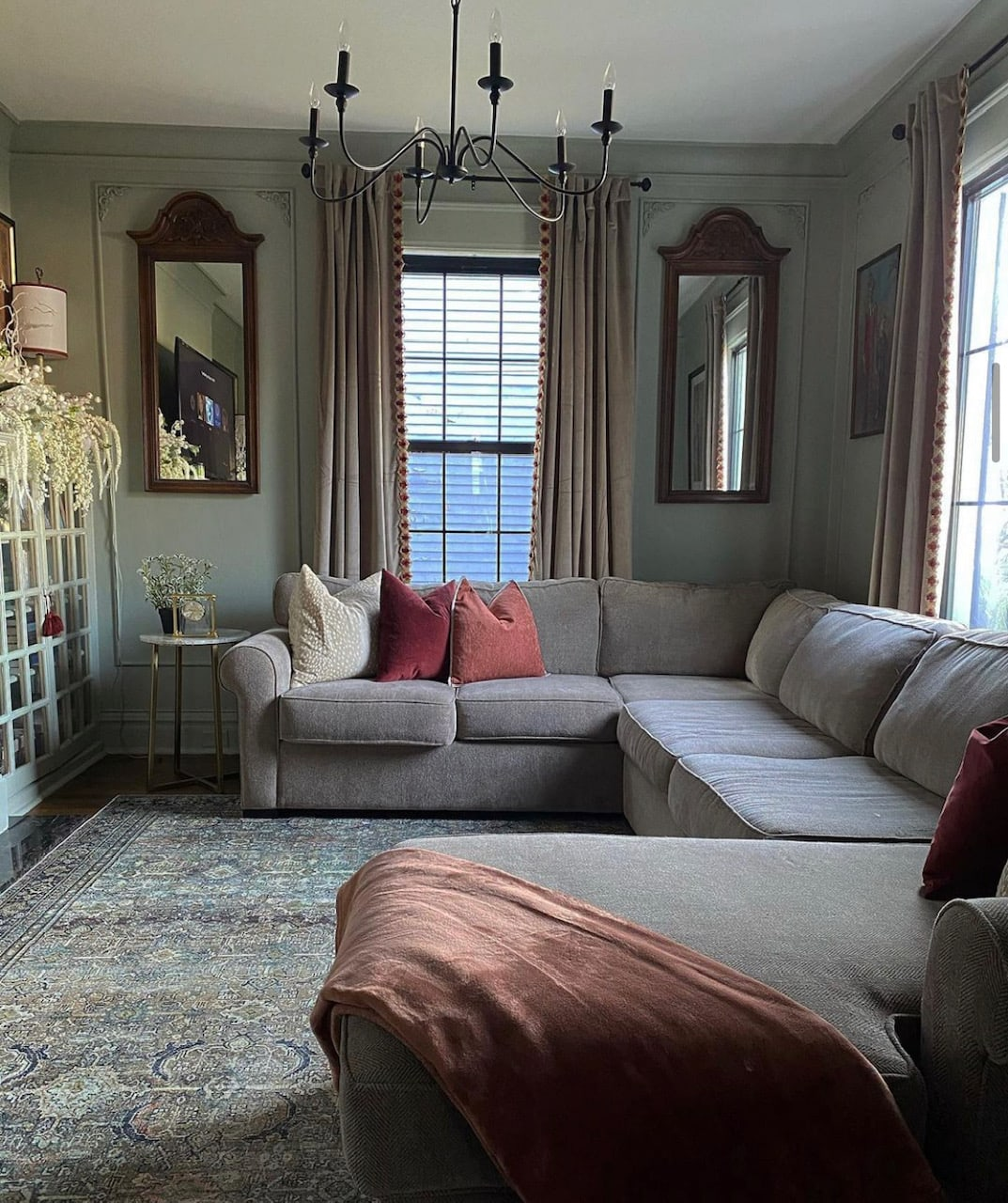 updated family room grandmillennial home