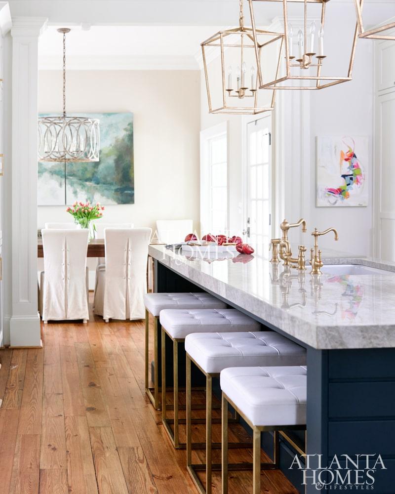 atlanta homes magazine blue kitchen design ideas
