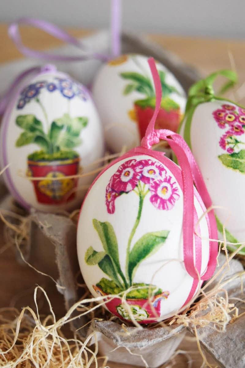 flower pot diy floral easter eggs