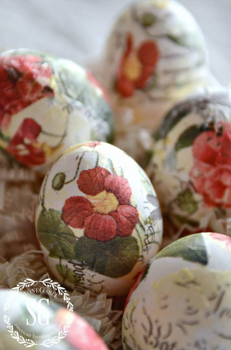 real blown out Easter eggs diy floral easter eggs