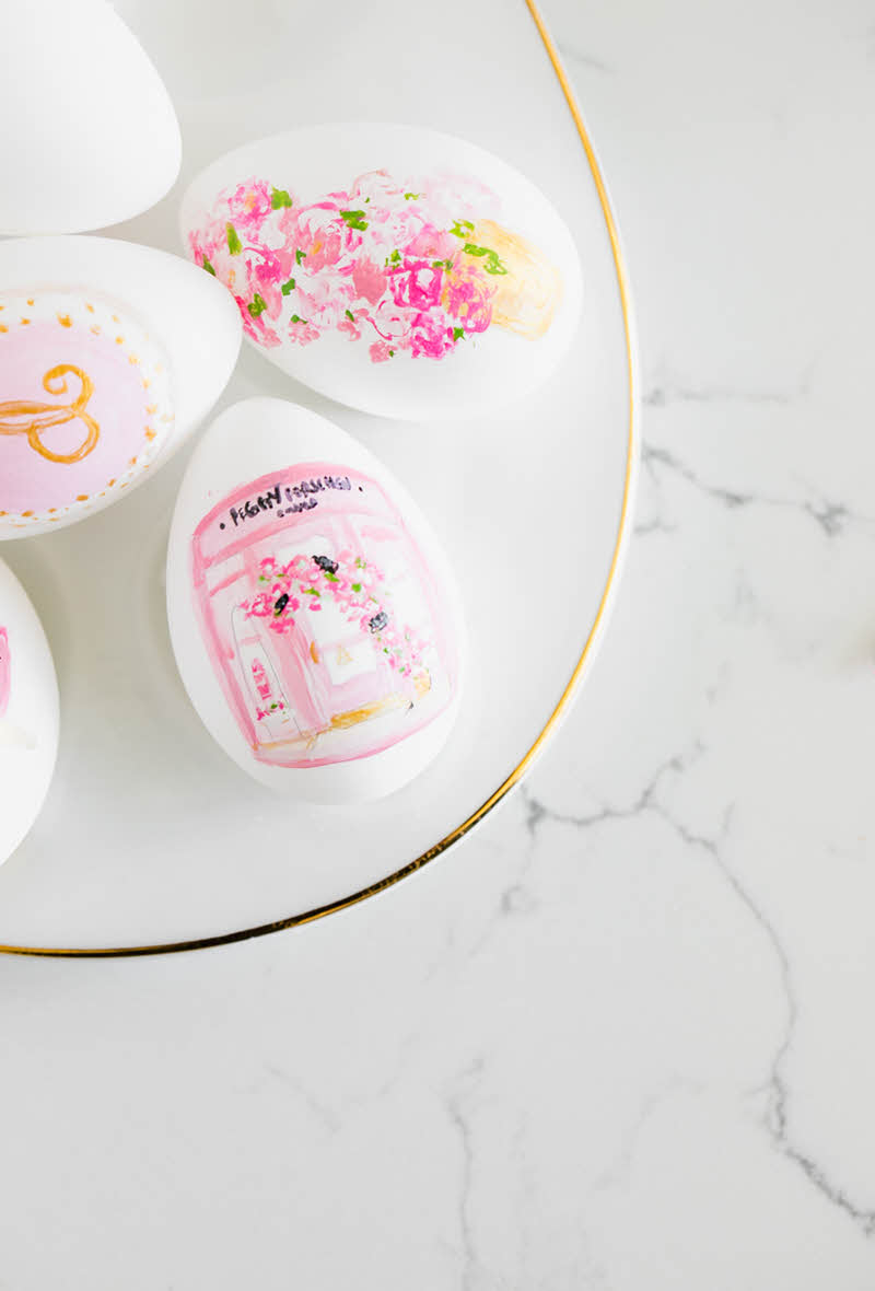 shabby chic diy floral easter eggs