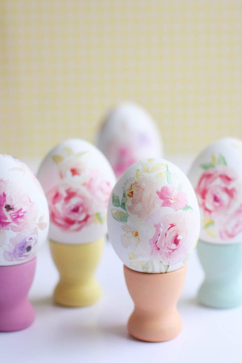 pretty floral diy floral easter eggs