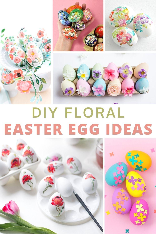 DIY Floral Easter Eggs Shabbyfufu