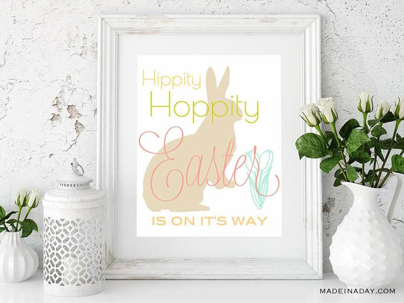 free printable Easter wall art