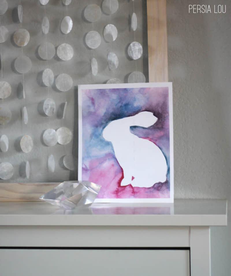 bunny free printable Easter wall art