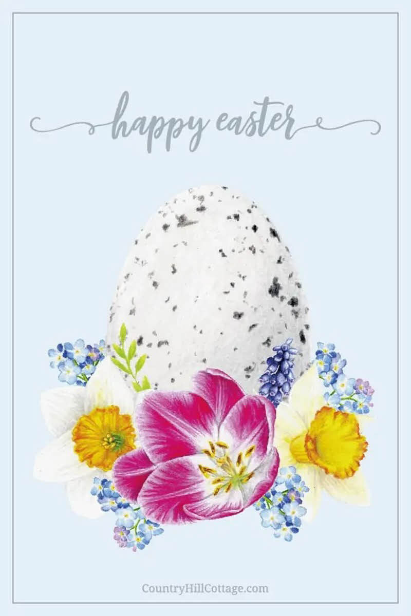 cottage style printable Easter wall art
