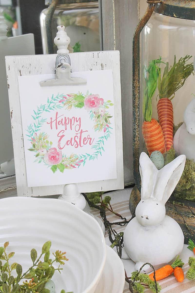 happy Easter free wall art printable