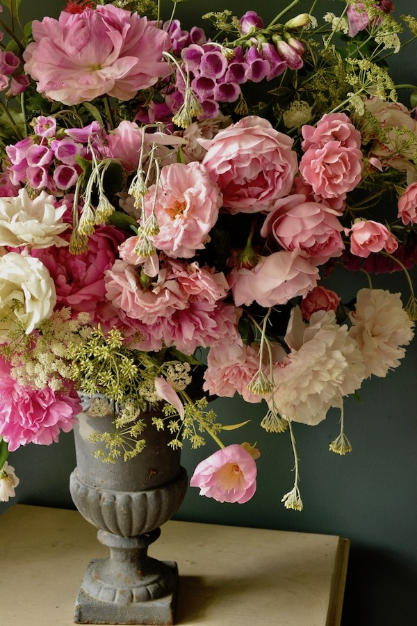 my French country home pink bouquet