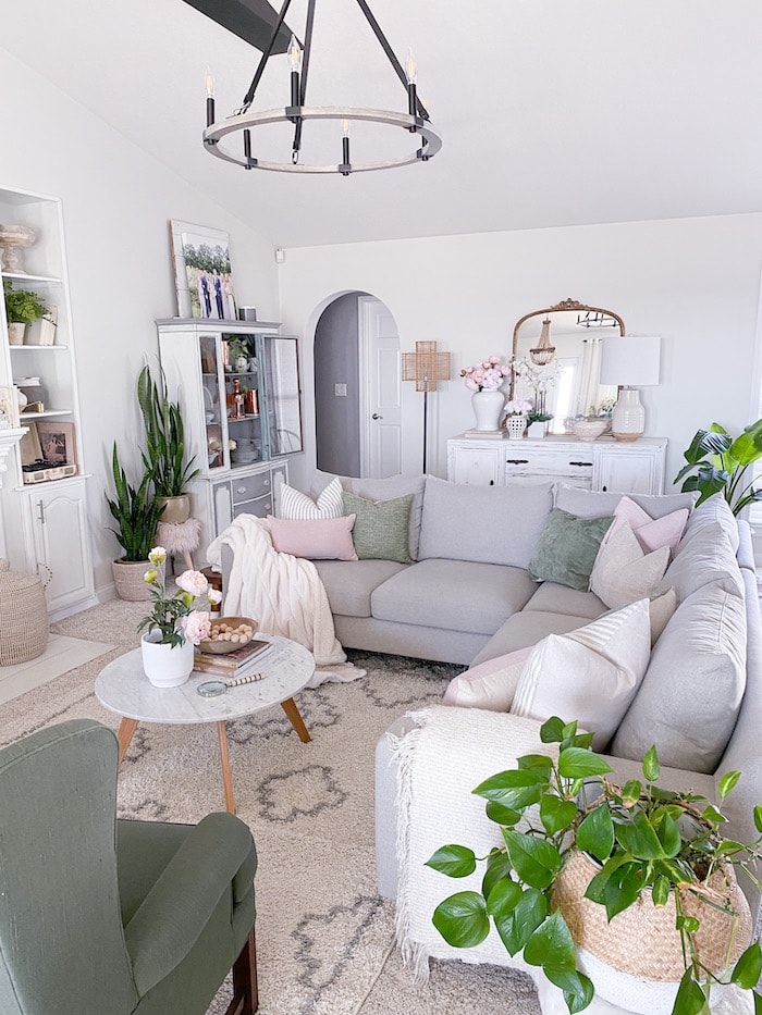 modern boho living room simple cozy charm