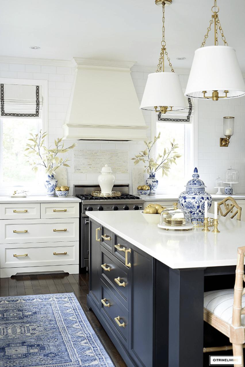 Citrine Living Blue Kitchen Design Ideas