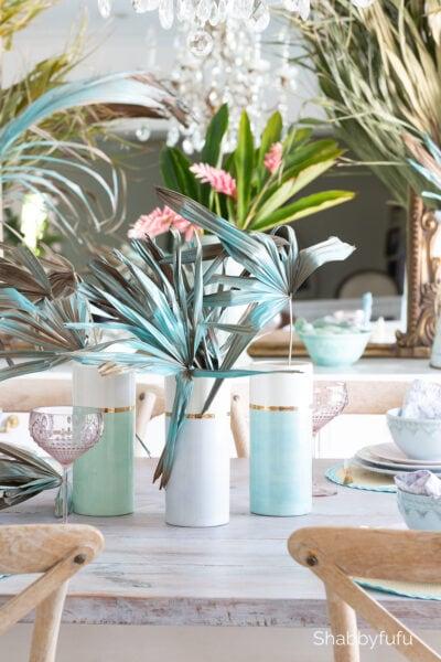 spring break in miami tablescape shabbyfufu