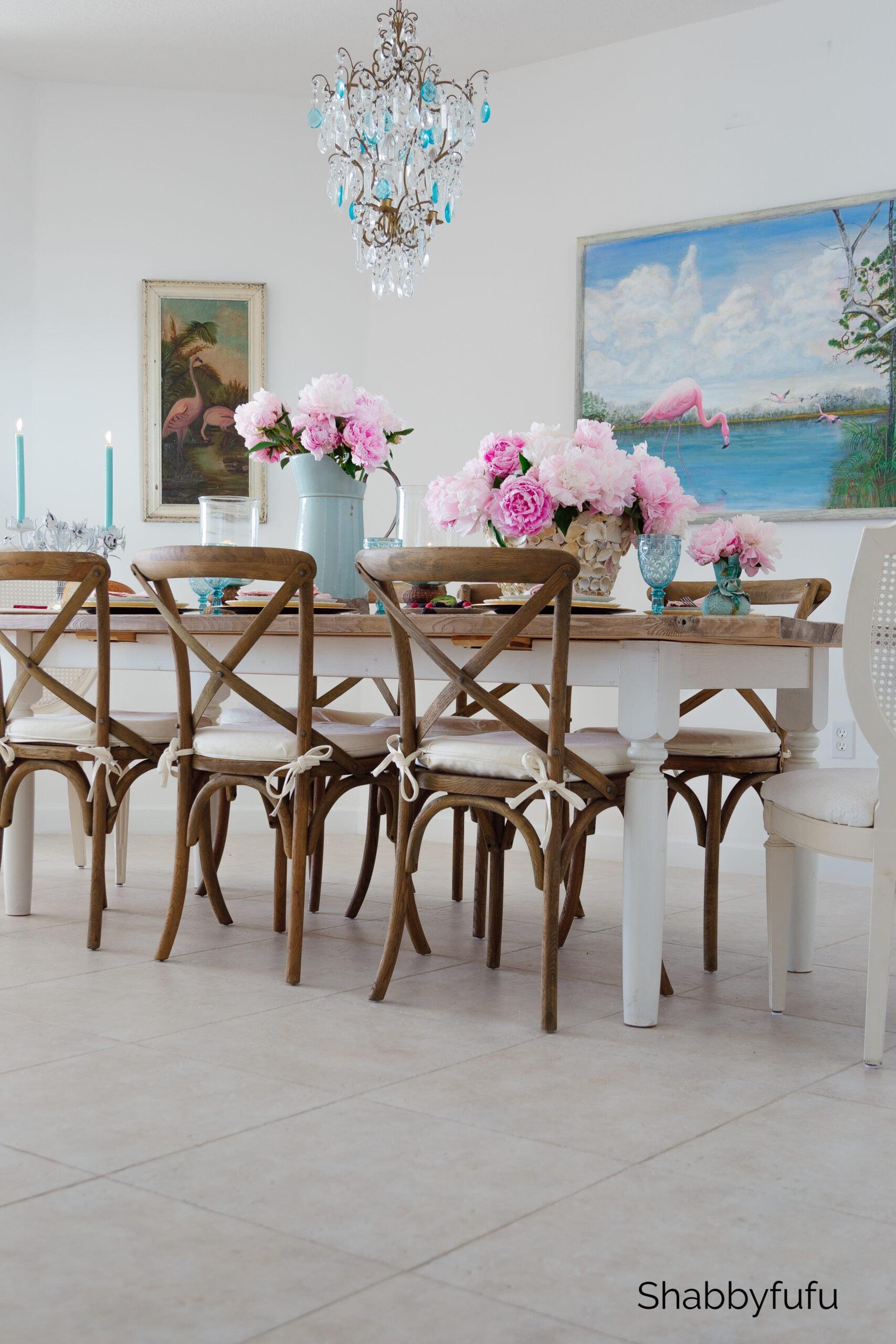modern coastal style beach dining room