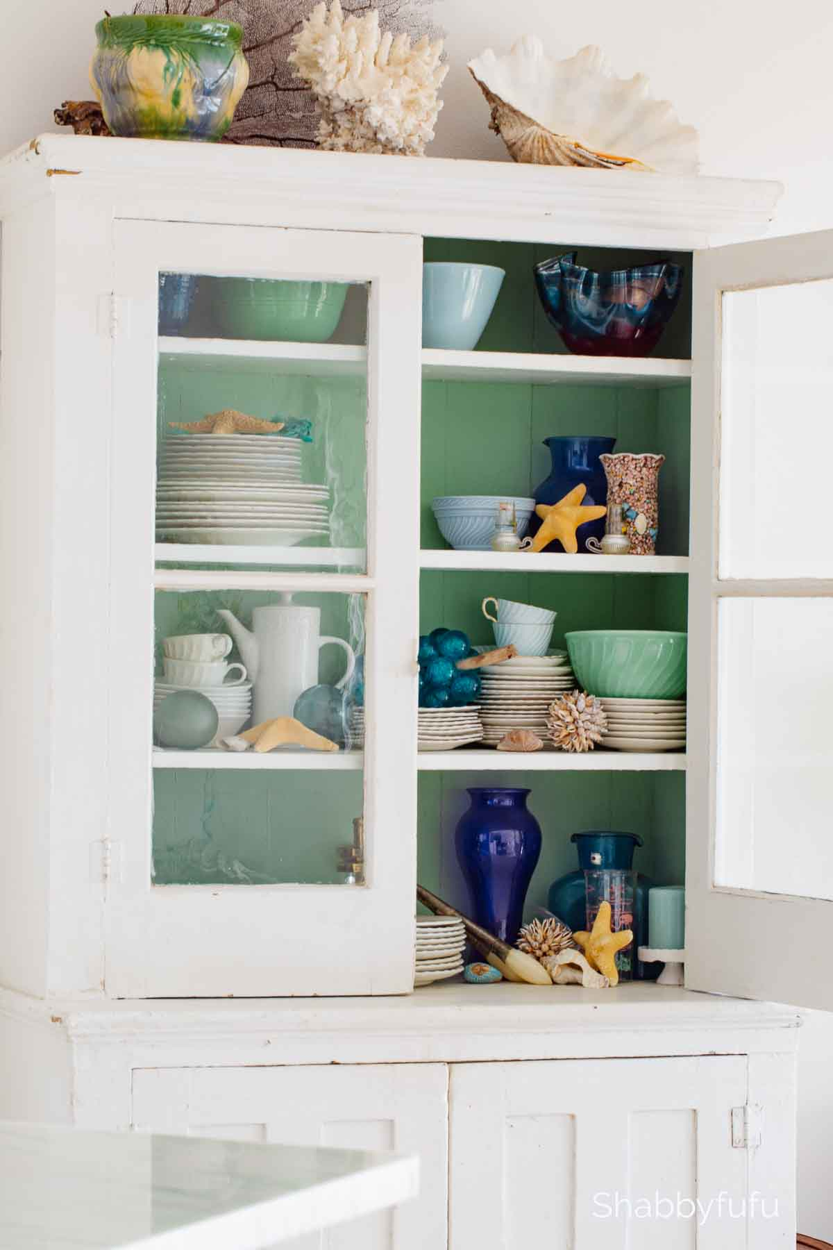 beach cottage style cabinet