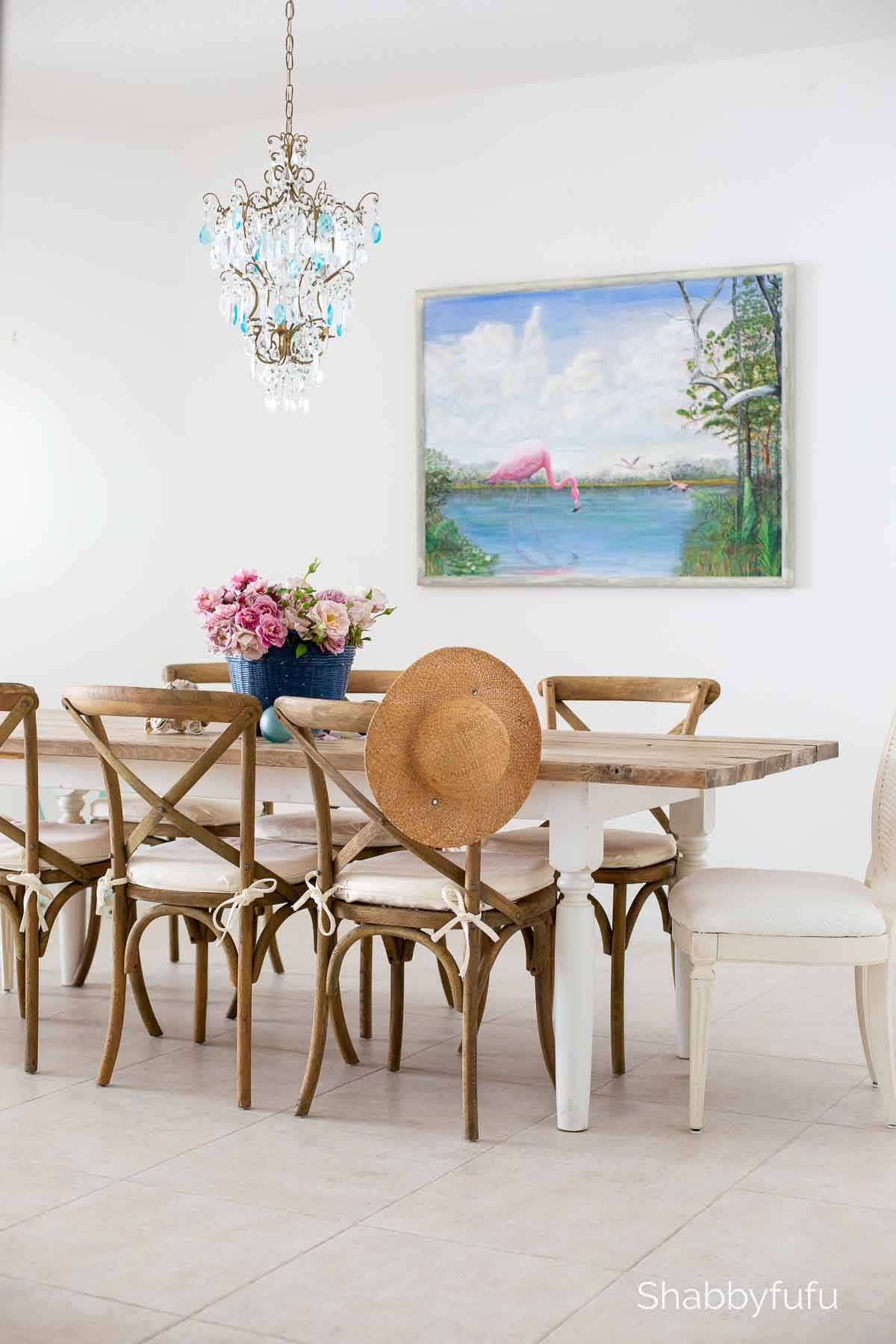 Modern coastal style home dining room