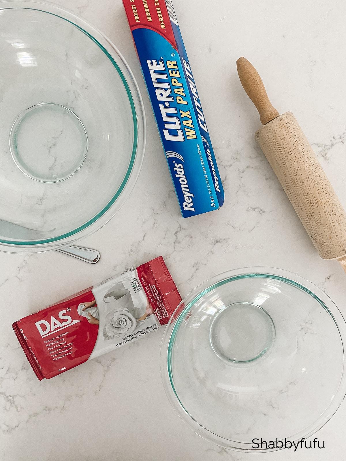 ruffle clay bowl diy tutorial supplies