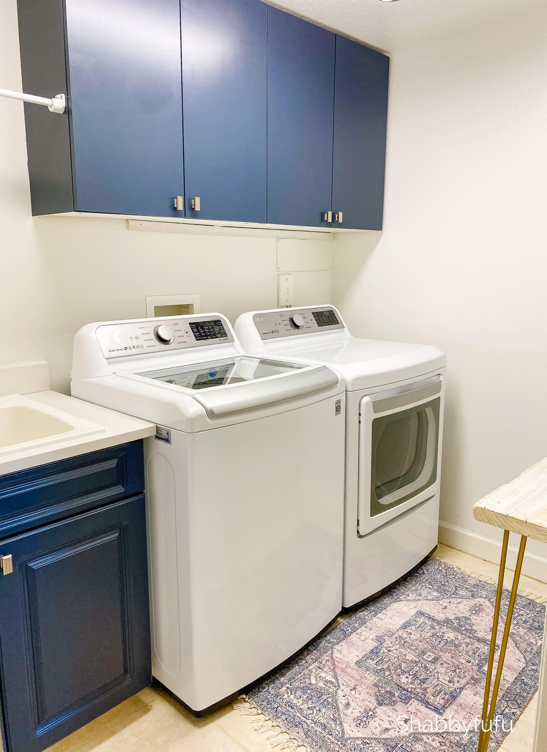 modern coastal laundry room Hale Navy