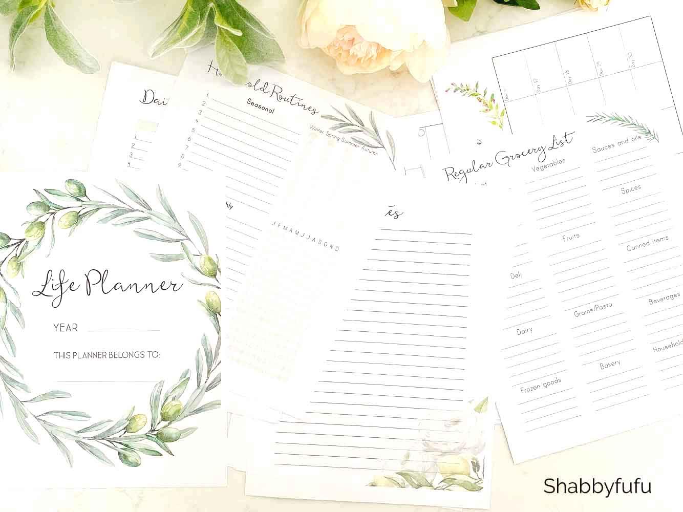free printable life planner shabbyfufu.com