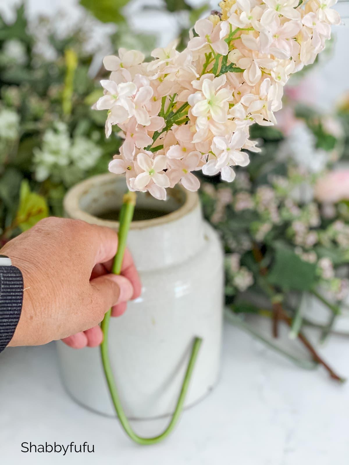 bend the stem realistic faux flower centerpieces