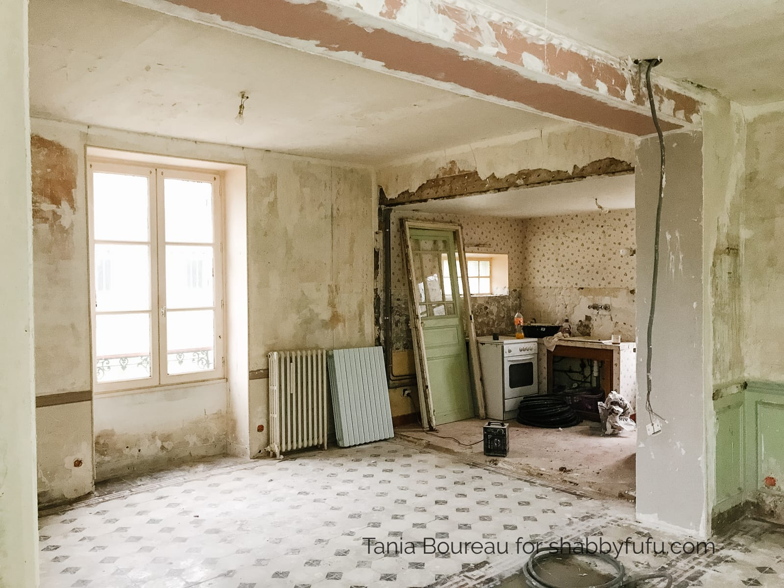 old home renovation in France