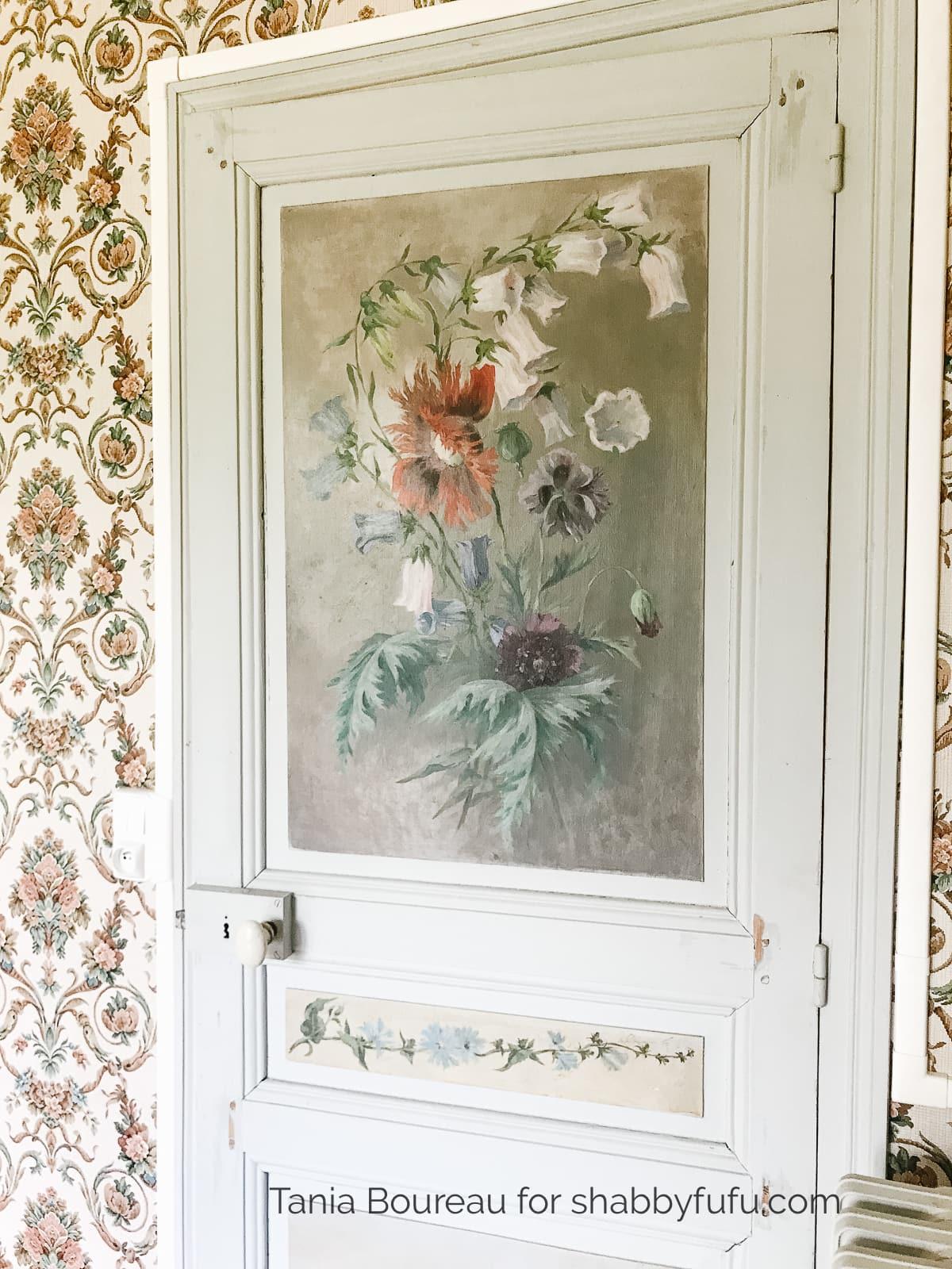 painted floral door
