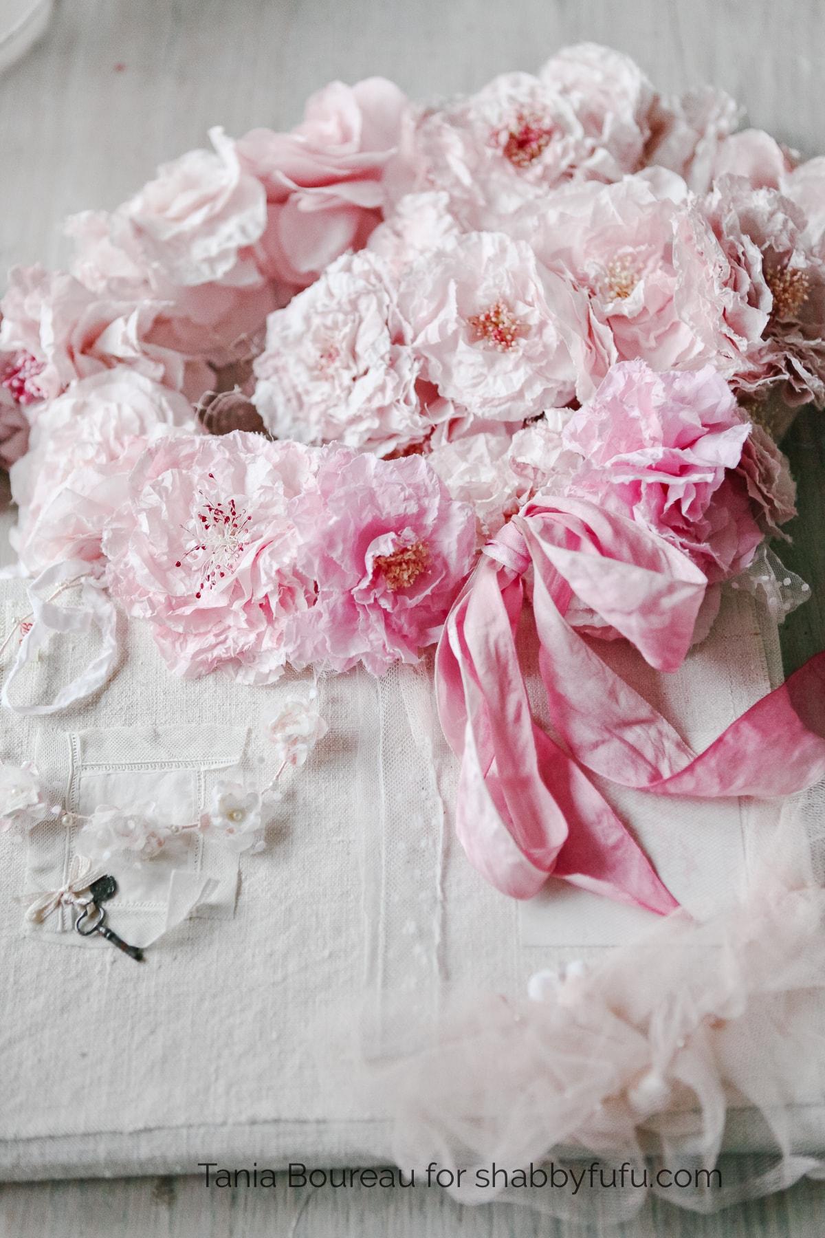 pink roses floral crown