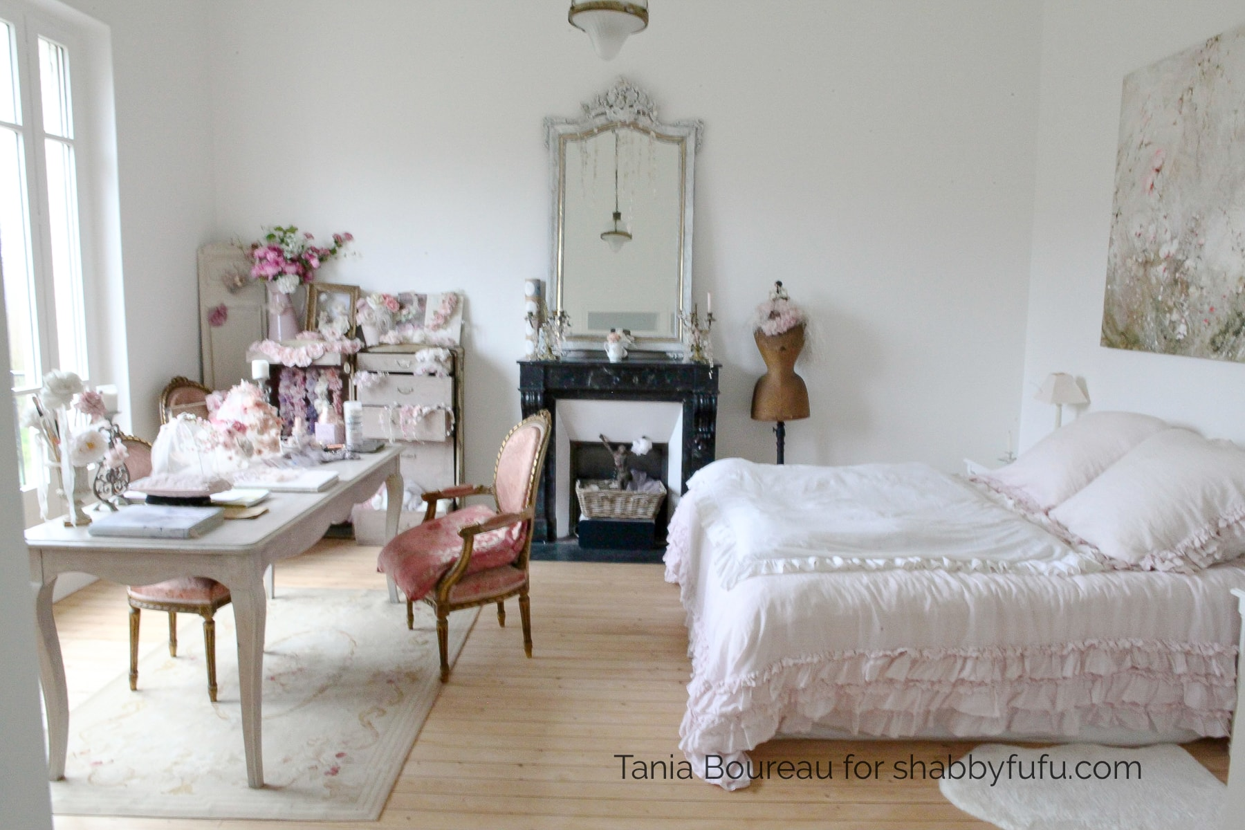 shabby chic French country house tour